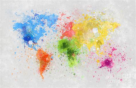 world painting show world map painting painting by setsiri silapasuwanchai