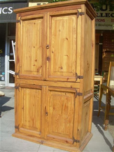 pine tv armoire uhuru furniture collectibles sold mexican pine pine