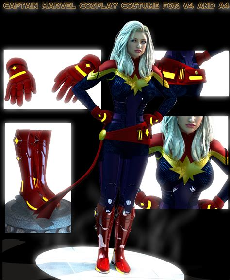 Costume Marvel Captain F766 captain marvel costume for v4 and a4 by terrymcg on deviantart