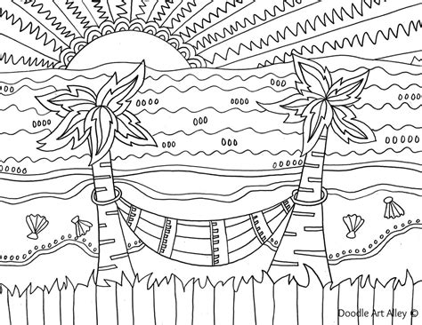 hard beach coloring pages beach coloring pages doodle art alley