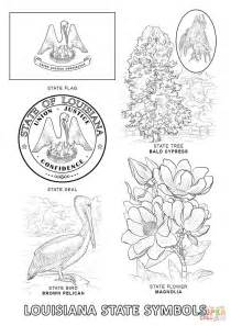 Louisiana State Symbols Coloring Pages louisiana state symbols coloring page free printable