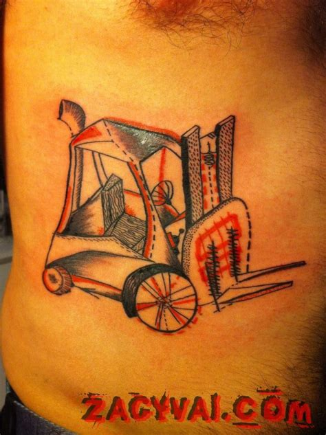 fork tattoo forklift abstract minimal zagyvai