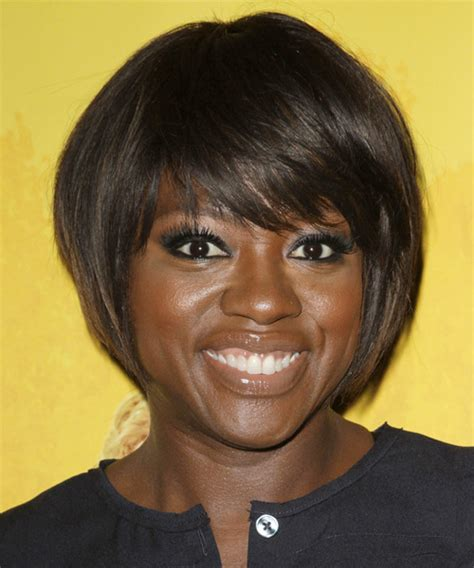best haircuts in davis viola davis short straight formal bob hairstyle with side