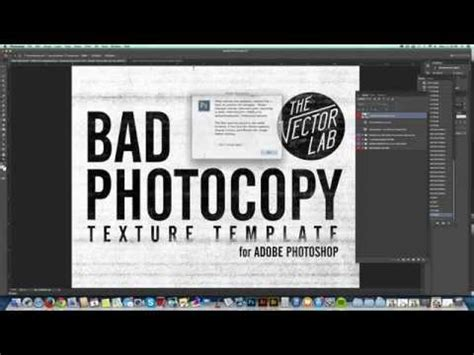 Tutorial Photocopy Texture Effects For Logos And Graphic Design Youtube Adobe Sts Templates