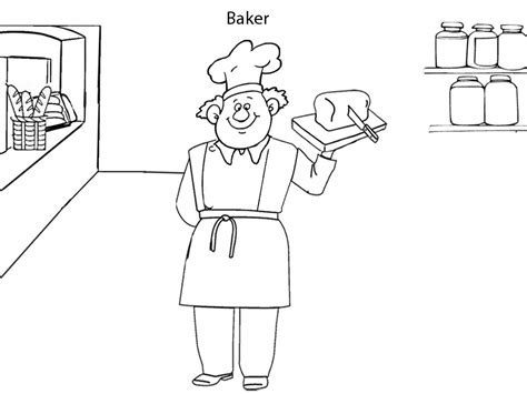 baker coloring pages preschool baker coloring page female activity sketch coloring page