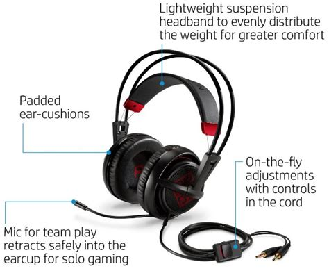 Headset Hp review of the hp omen headset with steelseries techy