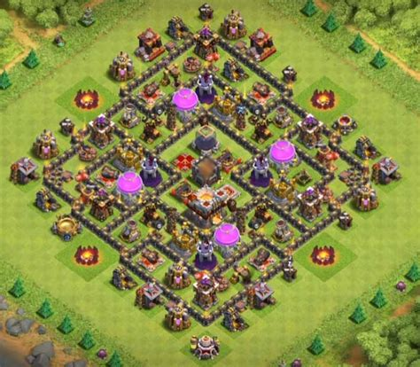 best th9 hybrid base 2016 12 best th9 hybrid bases with bomb tower 2016 2017