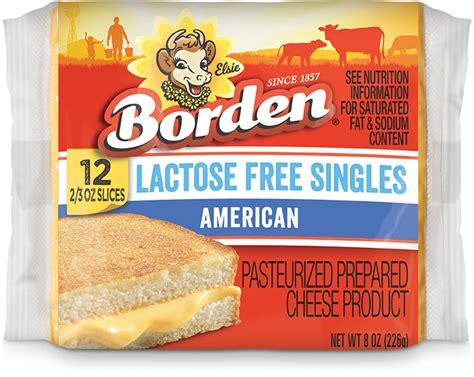 Comfort Food Lactose Free American Singles Borden Cheese