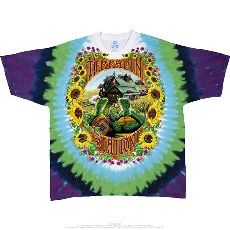 grateful dead terrapin station tie dye t shirt liquid blue