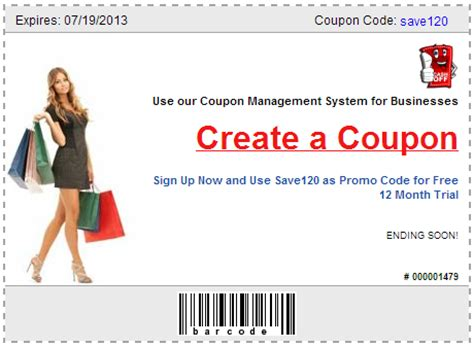 make a coupon for business site goes live prlog