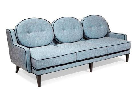 Azure Chenille Fabric Modern Draper Sofa Loveseat W Options