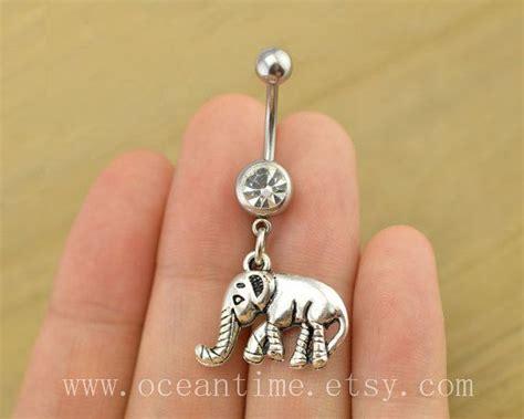 elephant tattoo with jewelry elephant belly button jewelry elephant navel jewelry lucky