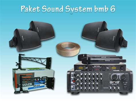 Bmb Kg511 paket sound system bmb 6