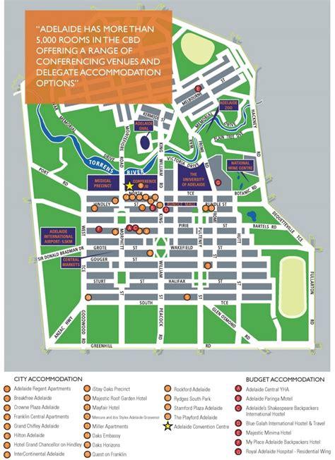adelaide cbd map
