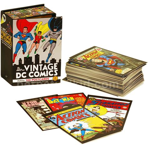 the art box postcards 0714865176 the art of vintage dc comics 100 postcards