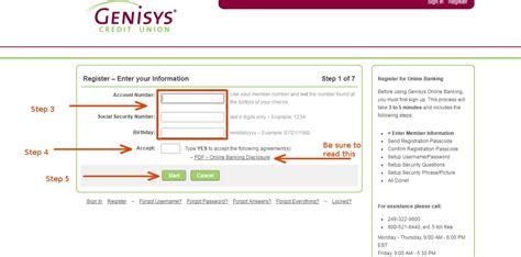 genisys bank genisys credit union banking login cc bank