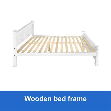 white queen bed frame new wooden queen bed frame white solid pine wood timber