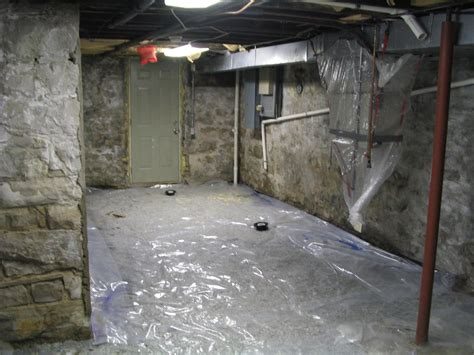 basement moisture barrier floor
