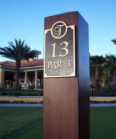 chions golf club plaques golf course signs arete industries