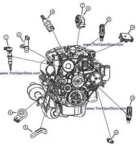 ram srt10 2004 2006 factory parts diagrams sensors engine