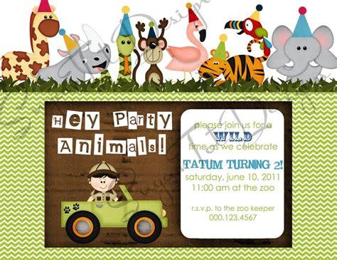 free printable zoo animal birthday invitations zoo jungle safari themed party animals birthday