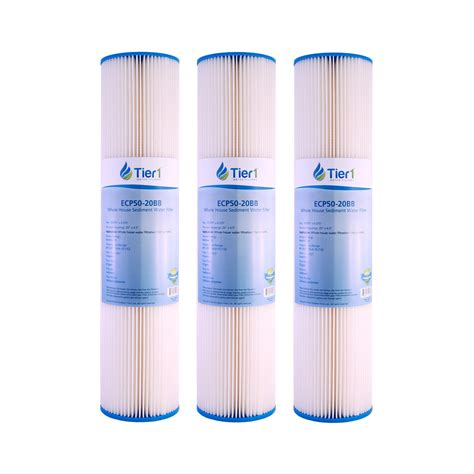 20 Inch Nano Filter 3 Micron Pp Sedimen Filter Air 20 x 4 5 inch 50 micron pleated polyester sediment water filter 3 pack