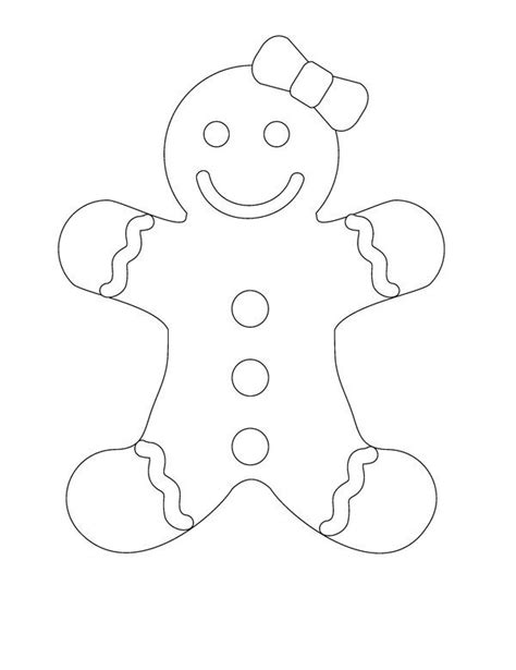 coloring pages gingerbread family gingerbread man template google search designs for
