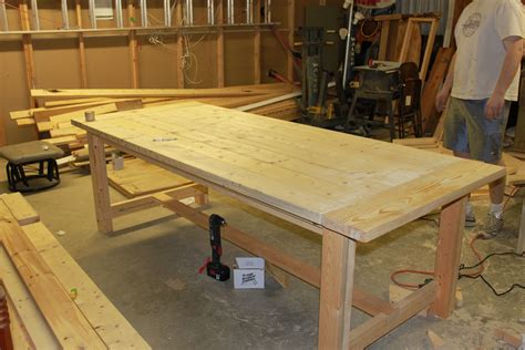 make a table for your dining room sidetracked - Building A Dining Room Table