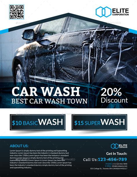 flyer template car wash car wash flyer by arsalanhanif graphicriver