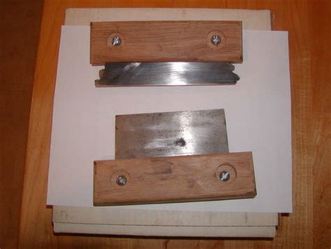 making wood scrapers replacement planer blades