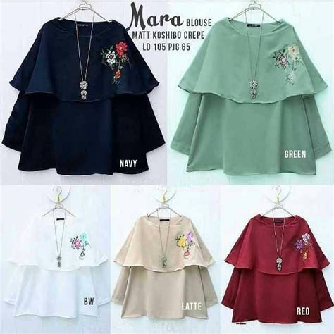 Renita Blouse Ori Supplier Tunik ready mara blouse ori crepe kosibo bordir ld105 pj68cm quality 79 supplier baju