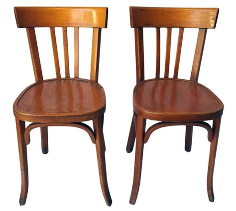 Wooden Bistro Chairs Set Of 35 Wooden Bistro Chairs At 1stdibs
