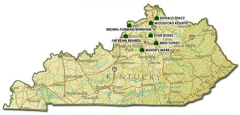 kentucky lata map bourbon whiskies