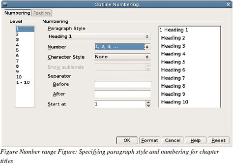 Openoffice Writer Outline View by Openoffice Writer Numbering Pages By Chapter