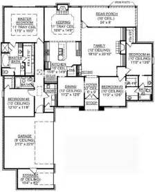 one story four bedroom house plans 4 bedroom one story house plans