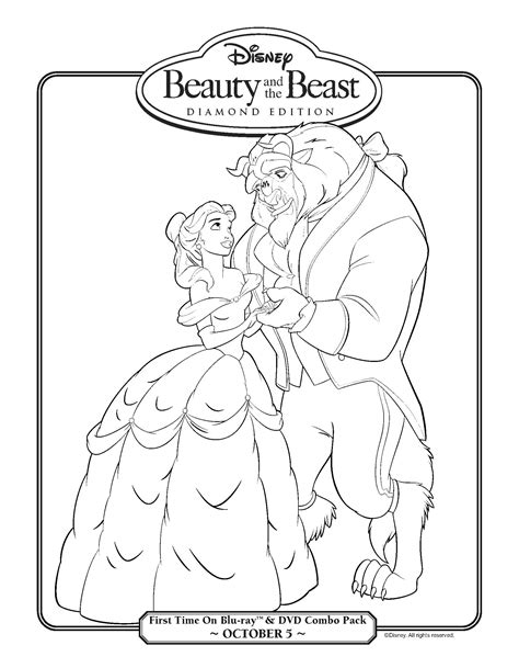 beauty and the beast coloring pages games beauty and the beast bonus round fun activities for kids