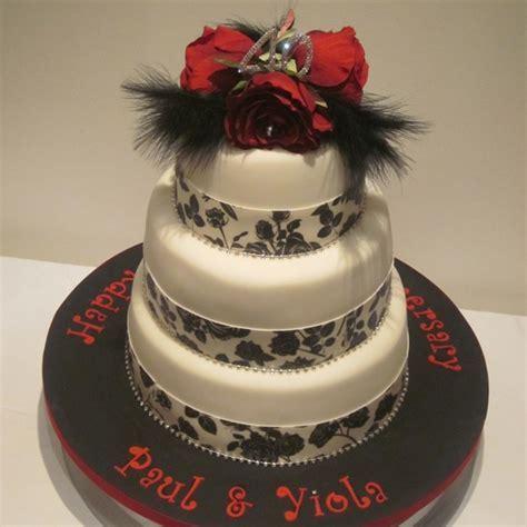 Three Tier Ruby Anniversary Cake   Neo Cakes