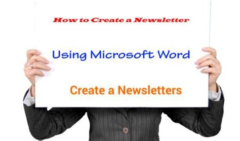 how to make a newsletter how to create a newsletter using microsoft word 2007
