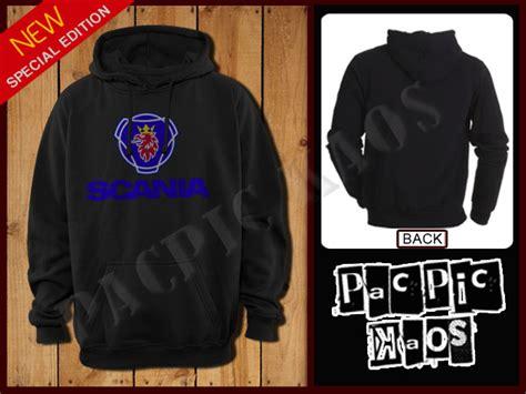 jual jaket sweater jumper hoodie scania logo hitam baru jaket kulit sintetis untuk wanita