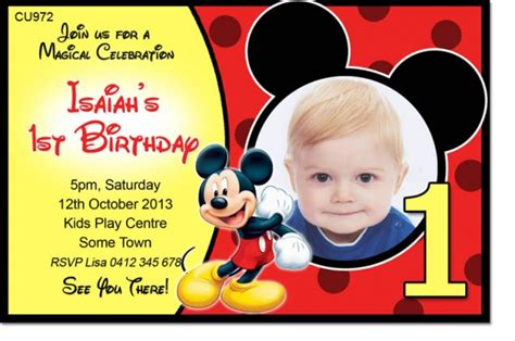 mickey mouse birthday invitation card template cu972 mickey mouse birthday invite boys themed