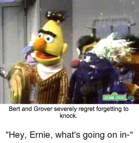 Sesame Street Memes - sesame street bert and grover severely regret forgetting