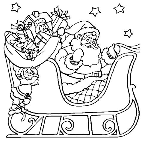 Santa Coloring Pages Printable Free santa coloring pages