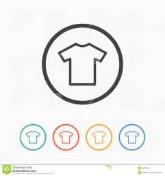 t shirt flat blank icon symbol stock vector image 53372257