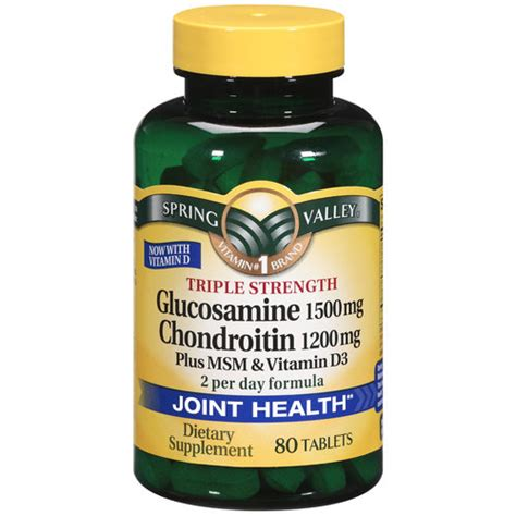 Vitamin Glucosamine Valley Joint Health Glucosamine Chondroitin Plus