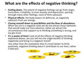 how negative thoughts impact us