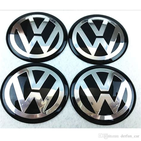 Vw Aufkleber 65mm by 56mm 65mm Aluminum Car Vw Black Blue Siver Wheel Hub