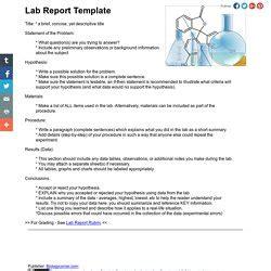 scientific method lab report template science lab report exle memes