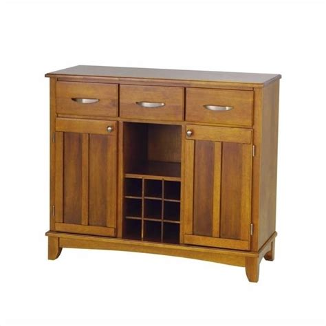 home styles furniture wood top cottage oak buffet ebay