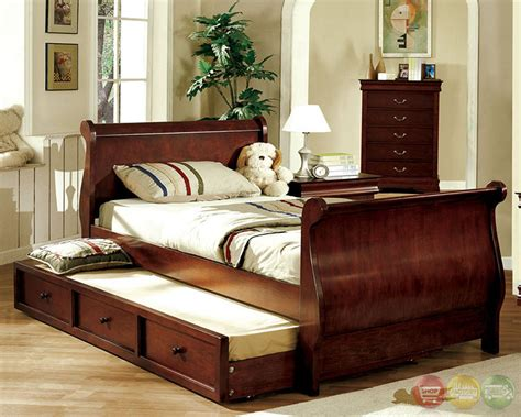 louis philippe sleigh bedroom set louis philippe jr dark cherry platform sleigh bedroom set