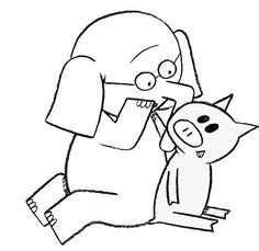 mo willems coloring pages elephant and piggie copy piggie and elephant and piggie coloring page school library stuff
